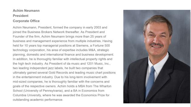 Achim Neumann Business Broker