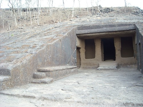 ancient buddhist caves in Indiad